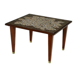 Mosaic Tile Top Side Table