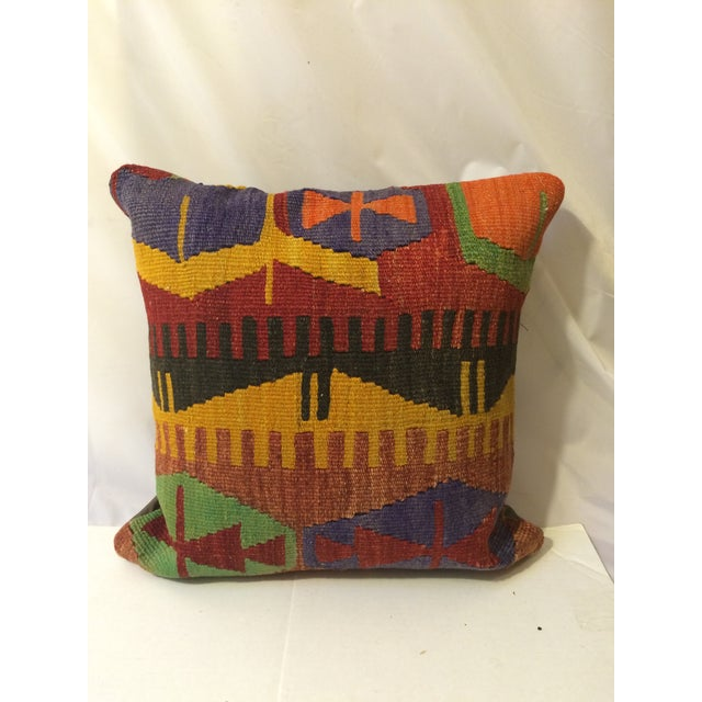 Antique Turkish Kilim Pillow Covers - Pair - Image 4 of 6