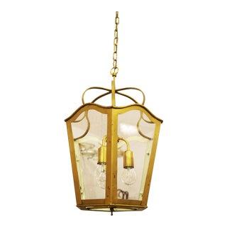 Large Viennese Art Nouveau hanging lamp, 1965