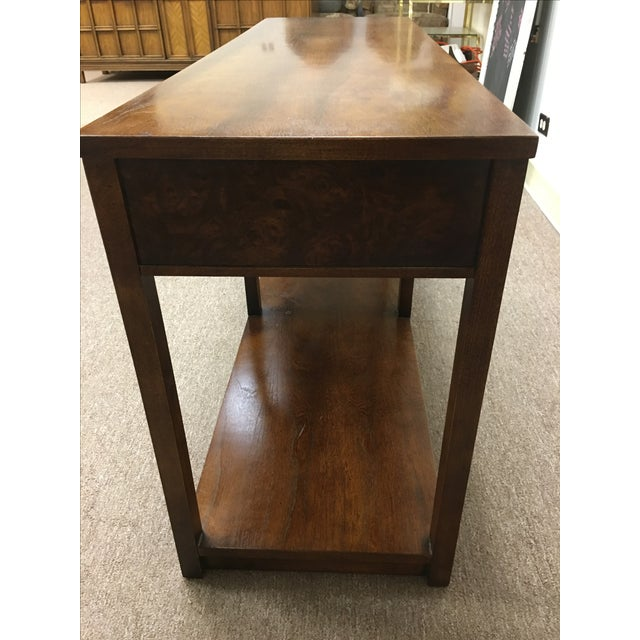 Vintage Wood and Chrome Console/Sofa Table - Image 10 of 10