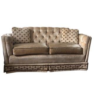 Highland House - Hollywood Regency Tufted Sofa & Pillows