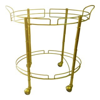 Gold Painted Serving Cart