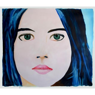 """Girl With Blue Hair"" Painting"