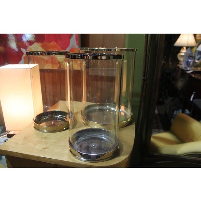 Ralph Lauren Silver Hurricane Lanterns - Set of 3 - Image 4 of 10