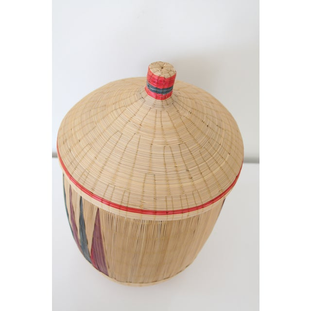 Woven Basket with Lid - Image 6 of 7