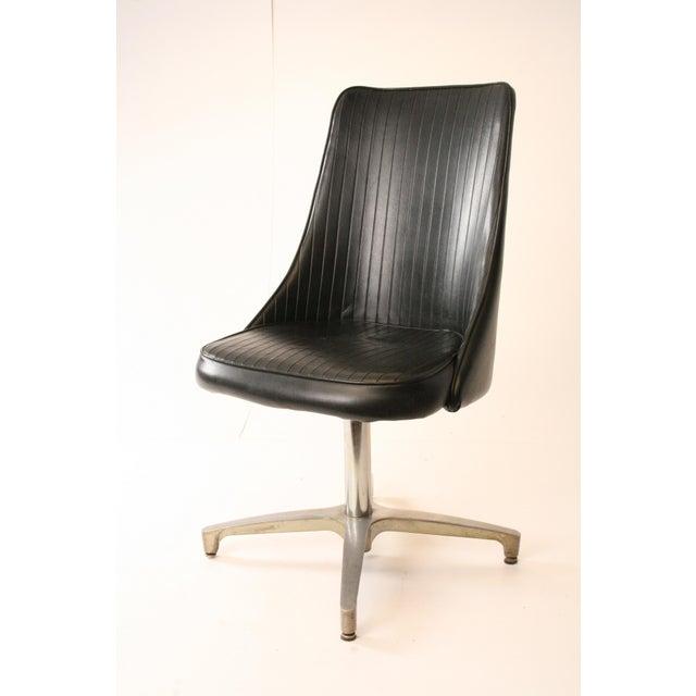 Chromcraft Mid-Century Black Swivel Dining Chair - Image 3 of 11