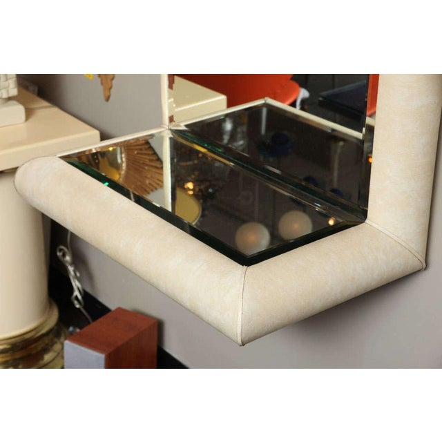 Springer Style Mirror Console in Faux Lizard by Jaru, California - Image 6 of 11