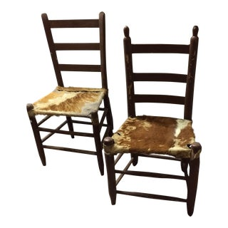 Vintage Hide Chairs - A Pair