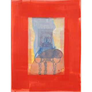 """Michael David """"Red From the Being Series"""" Lithograph"""