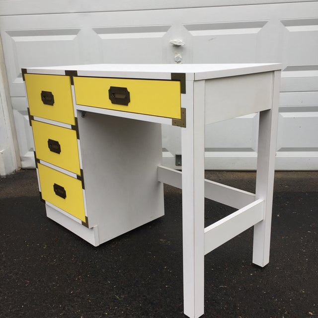 Mid-Century Modern Campaign Desk - Image 5 of 11