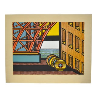 """1970s Vintage """"Fort Point"""" Limited Edition San Francisco Silkscreen Print by Tom Fricano"""