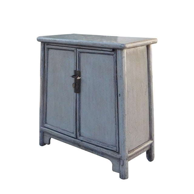 Chinese Rustic Gray Side Cabinet - Image 3 of 6