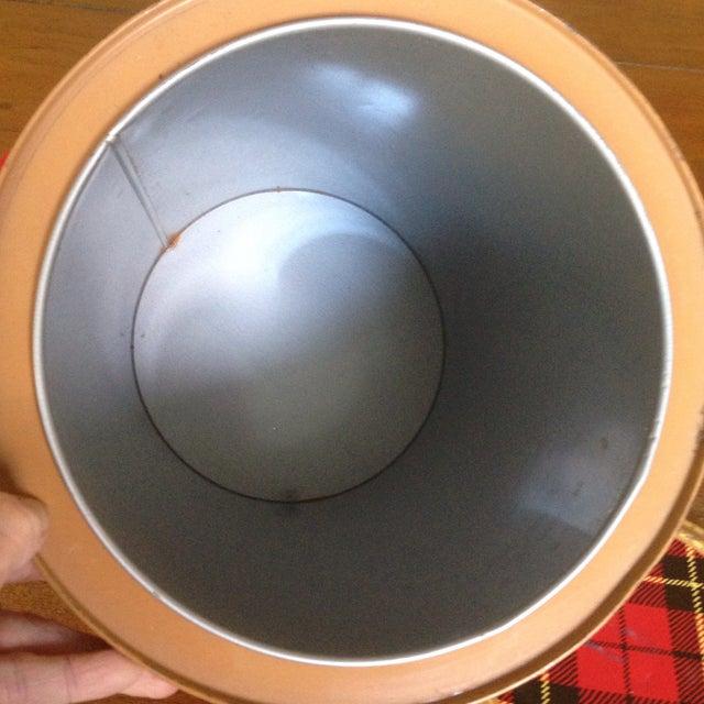 Mid Century Metal Plaid Cooler/Ice Bucket - Image 7 of 11
