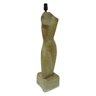Modernist Sculptural Nude Form Lamp