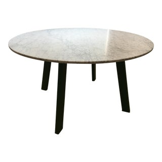 Blu Dot Marble Dining Table With Green Legs