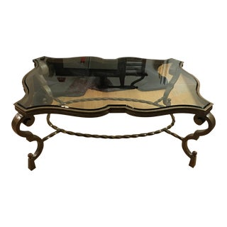 Century Furniture Glass & Iron Coffee Table