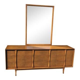 Red Lion Co Mid-Century Dresser & Mirror