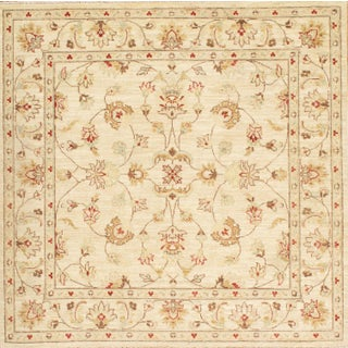 Pasargad Hand-Knotted Farahan Rug - 5' X 5'