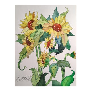 Sunflower Bud Painting