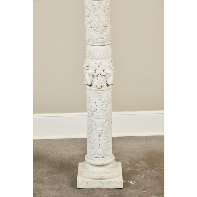 19th Century Italian Carved Marble Column - Image 5 of 9