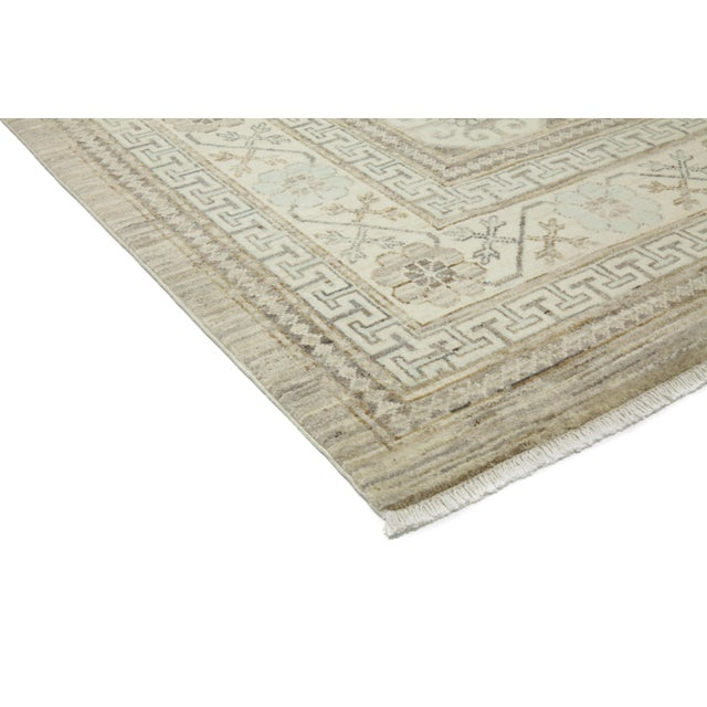 """New Khotan Hand Knotted Area Rug - 9'2"""" x 11'6"""" - Image 2 of 3"""