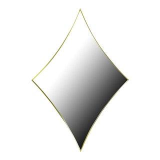 Brass Rhombic Arc Framed Mirror