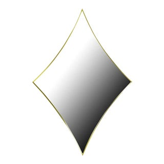 Brass Rhombic Arc Framed Mirror