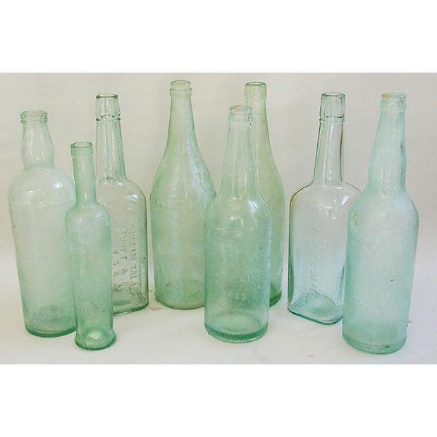 Pale Green-Blue Antique Bottles - Set of 8 - Image 2 of 8