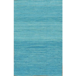 Pasargad Modern Collection Blue Silk Rug - 6' x 9'