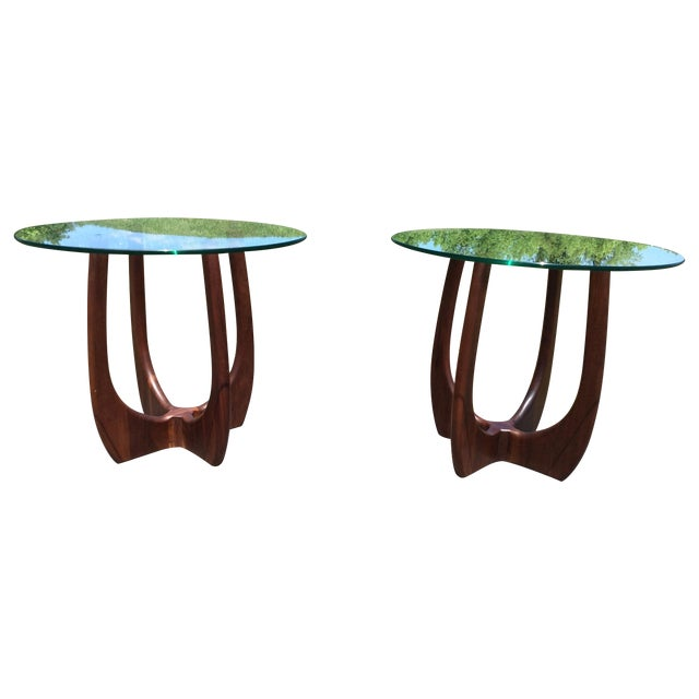 Adrian Pearsall Craft Associates End Tables - Pair - Image 1 of 10