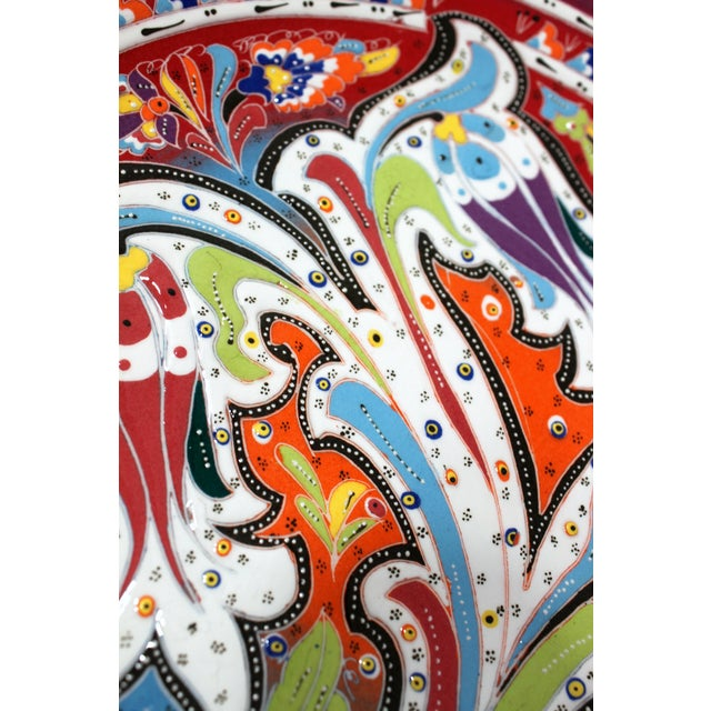 Multicolor Hand Made Turkish Plate - Image 6 of 7