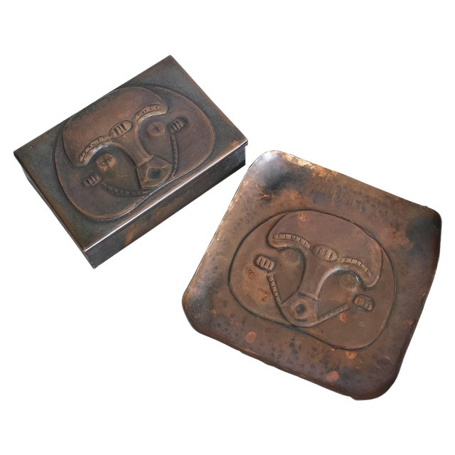 Art Deco African Box & Tray - Image 1 of 8