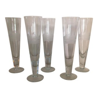 Ship Etched Glasses - Set of 5