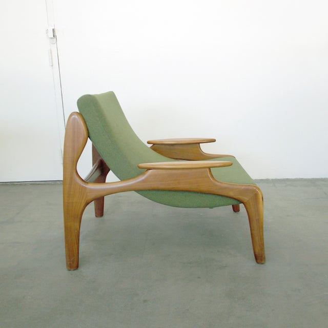 Italian Wood Sling Lounger - Image 4 of 9