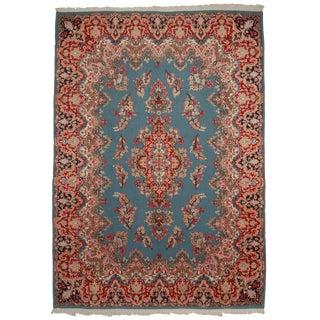 RugsinDallas Vintage Hand Knotted Wool Persian Kerman Rug - 9′8″ × 13′8″