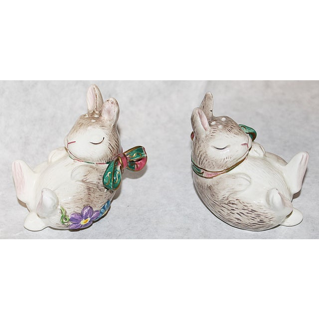 Image of Fitz and Floyd Bunny Rabbit Shakers - Set of 4