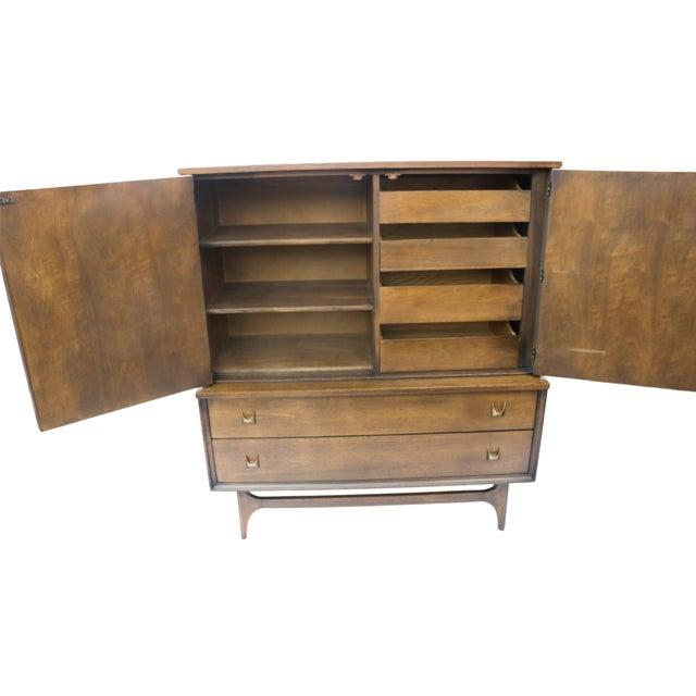 Mid-Century Brasilia Broyhill Highboy Dresser - Image 3 of 10
