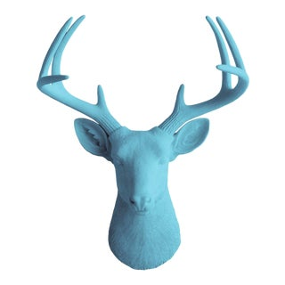 Wall Charmers Faux Taxidermy Lake Blue Mount Bust