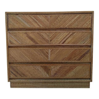 Pencil Reed Rattan Chest