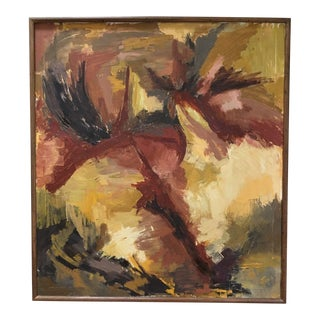 B.T. Wohl Vintage Mid-Century Abstract Oil Painting