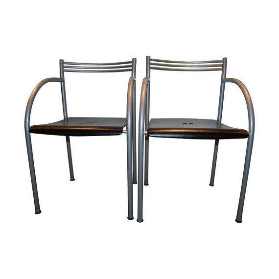 Philippe starck baleri italia francesca chairs 4 chairish - Chaises philippe starck ...