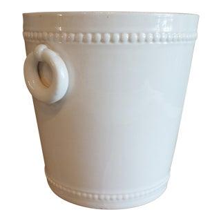 Vintage Bassanello White Italian Planter Cache Pot