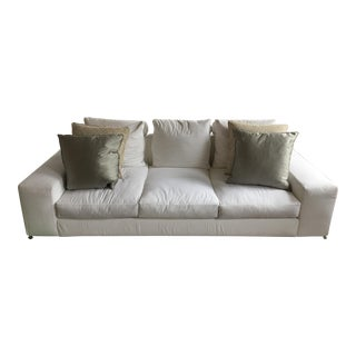 Minotti White Snow Sofa