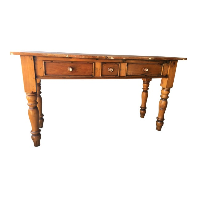 Rustic Handmade Console Table - Image 1 of 11