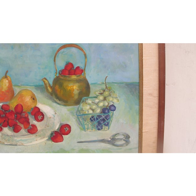 1960s Still Life Acrylic on Canvas - Image 4 of 6