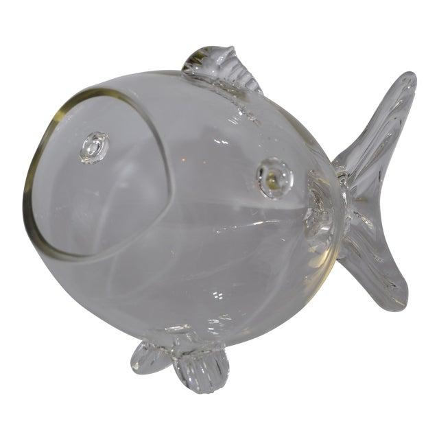 Blenko Handblown Glass Fish Candy Bowl - Image 1 of 9
