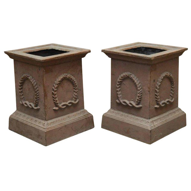 Neoclassical Cast Iron Pedestals or Urns - a Pair - Image 1 of 10