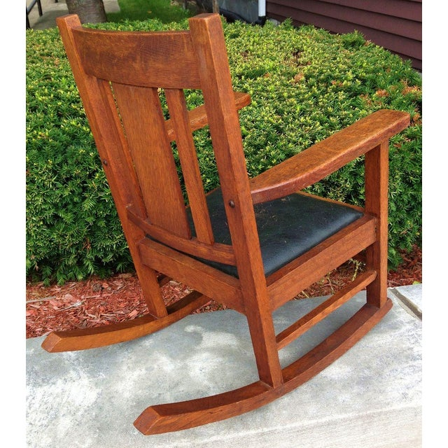 Antique Wakefield Co Mission Child's Rocking Chair - Image 3 of 7