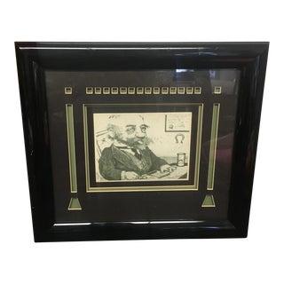 Signed Charles Bragg Framed Lithograph