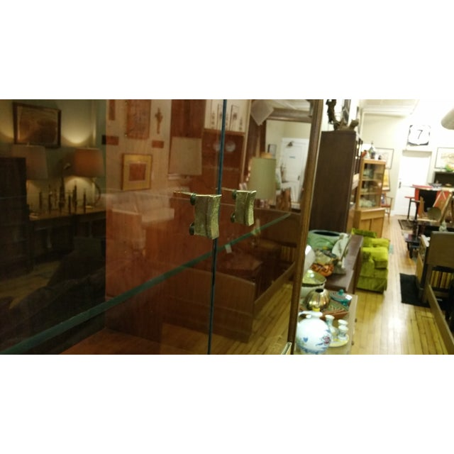 Image of Thomasville Campaign Style Display Cabinet